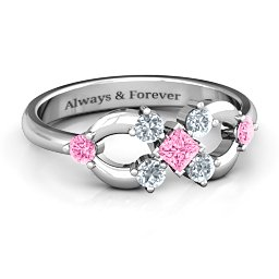 Princess Center Infinity Ring