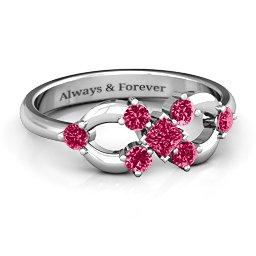 Princess Center Infinity Ring