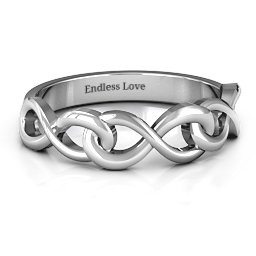 Triple Entwined Infinity Ring