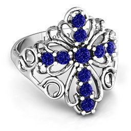 """""""In the name of Spirituality"""" Cross Ring"""