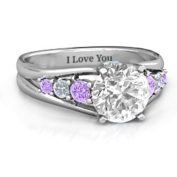 Radiant Love Ring with Collar Gems