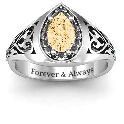Aphrodite Ring with Side Gems