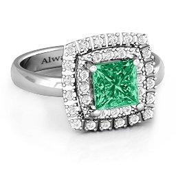 Splendid Double Halo Princess Ring