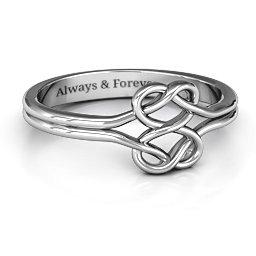 Tangled Hearts Infinity Ring