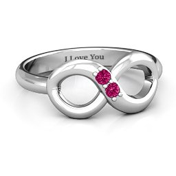 """""""Twosome"""" Infinity Ring"""