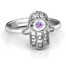 Protection Hamsa Ring