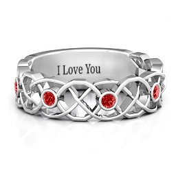 Intertwined Love Band Ring