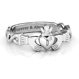 Classic Infinity Claddagh Ring