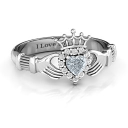 Claddagh with Halo Ring