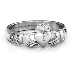 Celtic Knotted Claddagh Ring