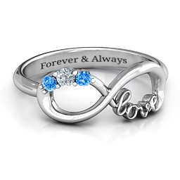 Birthstone Infinity Love Ring