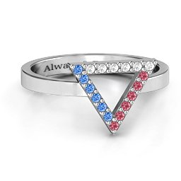 Your Best Triangle with Accents Ring