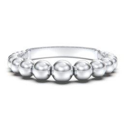 Graduated Beaded Stacking RIng
