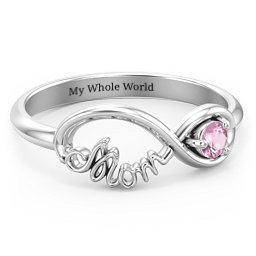 Mom Infinity Ring with Gemstones