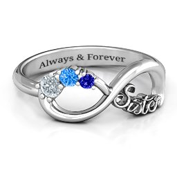 2-4 Stone Sisters Infinity Ring