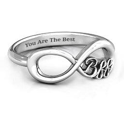 BFF Friendship Infinity Ring
