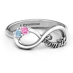 Two Stone Promise Infinity Ring