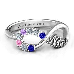 2-10 Stone Nana Infinity Ring