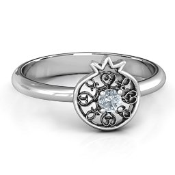 Pomegranate with Filigree Ring