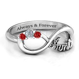 Aunt's Infinite Love Ring with Stones