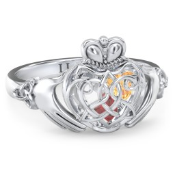 Caged Hearts Celtic Claddagh Ring