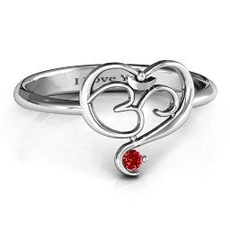 Spiritual Heart Om Ring