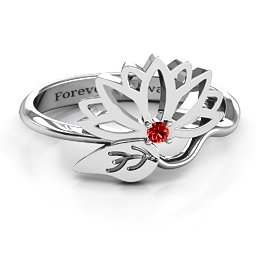 Leaves and Lotus Wrap Ring