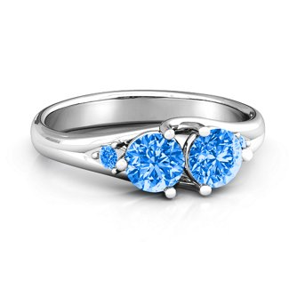 010831407a345 Darling Duo Double Gemstone Ring