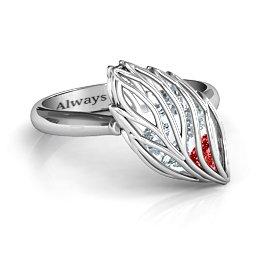 Exquisite Elm Cage Leaf Ring