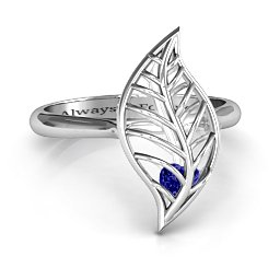 Mint to Be Cage Leaf Ring