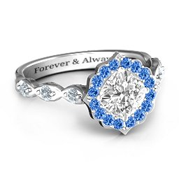 Vintage Glamour Ring With Accent Stones