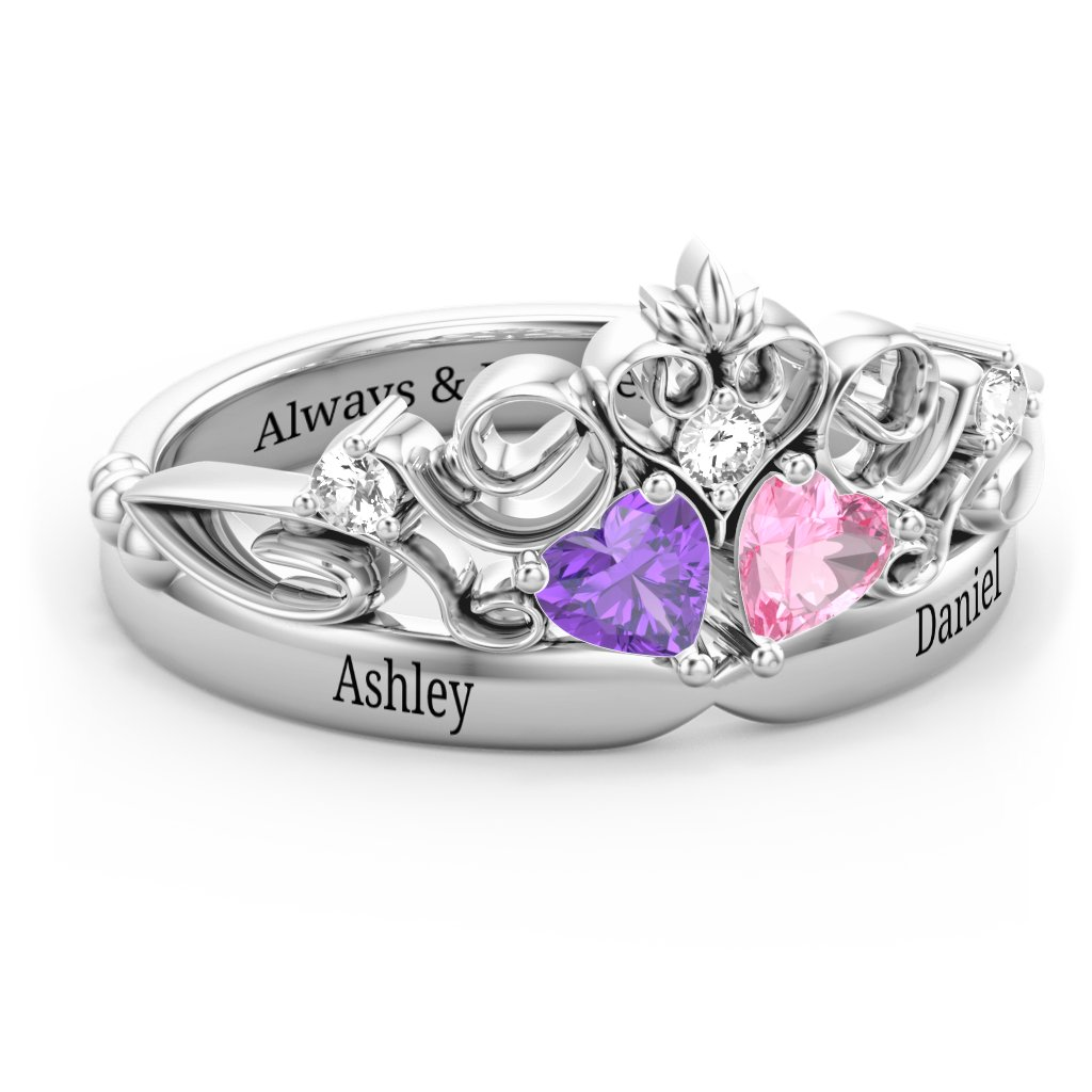 521f0043a11adb Promise Rings - Personalized with Gemstones and Engravings   Jewlr
