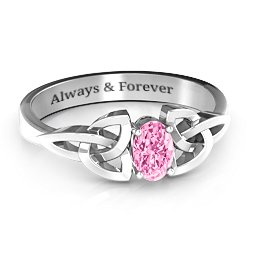 Trinity Knot Oval Engagement Ring