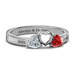 Sparkling Sweethearts Two-Stone Ring
