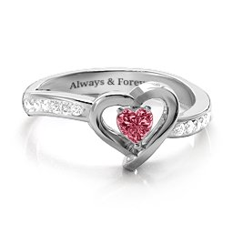 Falling For You Accented Heart Ring