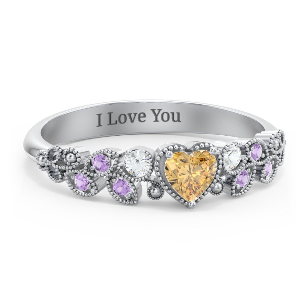 521f0043a11adb Promise Rings - Personalized with Gemstones and Engravings | Jewlr