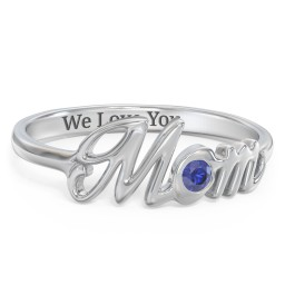 All About Mom Birthstone Ring