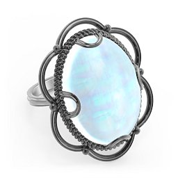 Vintage Inspired Statement of Style Cabochon Ring
