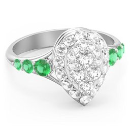 Carina Pear-Shaped Cluster Ring