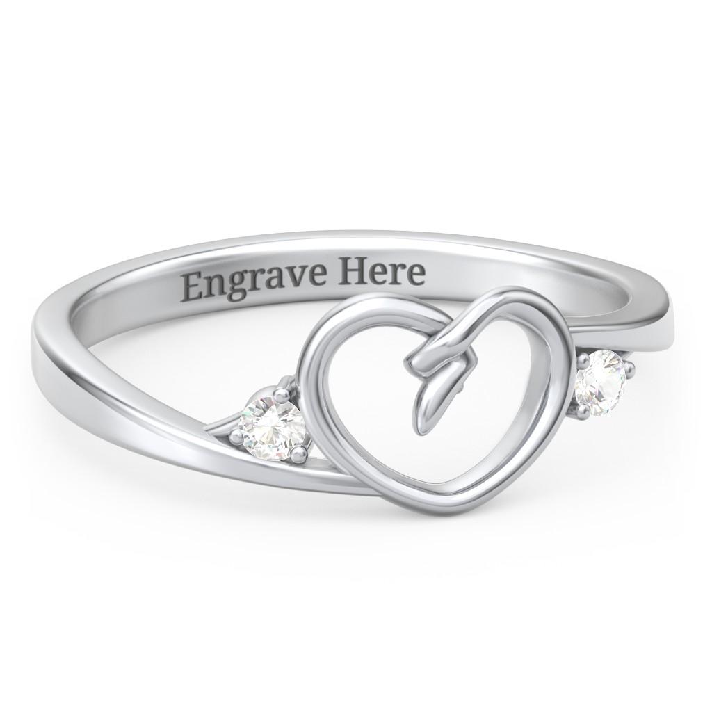 94ebd5053 Heart Rings, Personalized Rings, Heart Rings | Jewlr