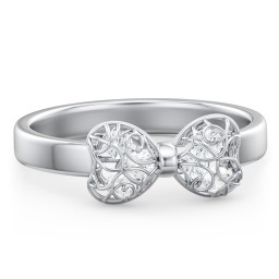 Adorable Bow Cage Ring
