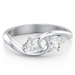 Two of Hearts Pinky Promise Ring
