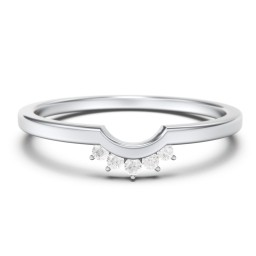 U-Shaped Stackable Ring with Accents