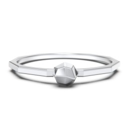 Faceted Ball Stackable Ring