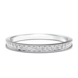 Milgrain Half Eternity Stackable Band