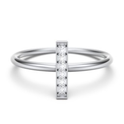 Vertical Bar Ring with Accents