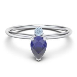 2-Stone Multi Gemstone Ring