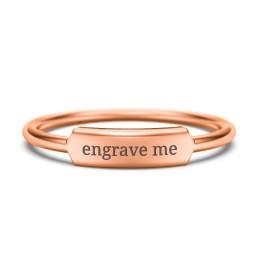 Engravable Bar Ring