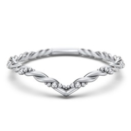 V-Shape Stacking Ring with Twisted Band