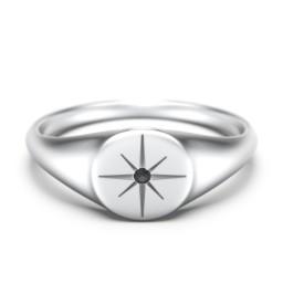 Star Set Signet Ring